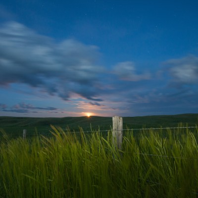 Moonrise over Grasslands
